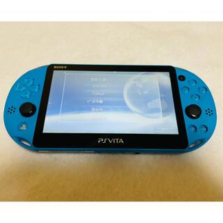 プレイステーションヴィータ(PlayStation Vita)の☆美品☆PSVita PCH-2000 ZA23 本体 アクアブルー (家庭用ゲーム機本体)