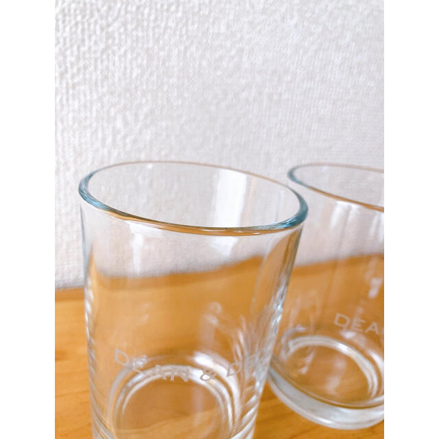 DEAN & DELUCA(ディーンアンドデルーカ)の【新品未使用】DEAN&DELUCA グラス Sサイズ ペア インテリア/住まい/日用品のキッチン/食器(グラス/カップ)の商品写真