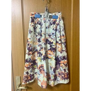 ヴィス(ViS)のVIS 花柄スカート(ひざ丈スカート)
