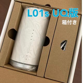 ファーウェイ(HUAWEI)のSpeed Wi-Fi HOME L01s white UQ版 HWS32SWU(PC周辺機器)