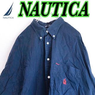 NAUTICA - NAUTICA ノーティカ メンズ 長袖BDシャツ 2XL USA 古着