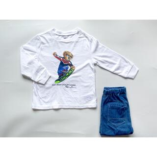Ralph Lauren - ◆美品◆ラルフローレン◆ポロベア◆長袖◆シャツ◆Tシャツ◆白◆秋冬◆