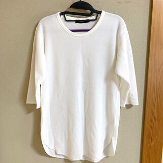 レイジブルー(RAGEBLUE)のRAGEBLUE  ワッフルロングクルー5分袖 ホワイト02(Tシャツ/カットソー(七分/長袖))