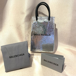 バレンシアガ(Balenciaga)のバレンシアガ  ショルダーバッグ  シルバー ショッピングバック 正規品 (ショルダーバッグ)