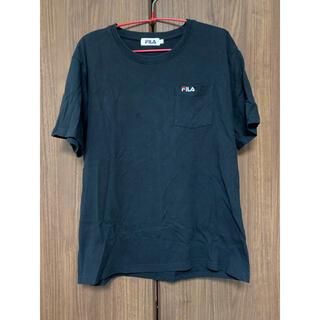 フィラ(FILA)のUSED品 FILA 半袖Tシャツ ポケット付き メンズ Lサイズ トップス 黒(Tシャツ/カットソー(半袖/袖なし))