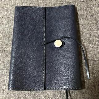 エルメス(Hermes)のエルメス ブックカバー 手帳カバー ネイビー 青 紺(手帳)