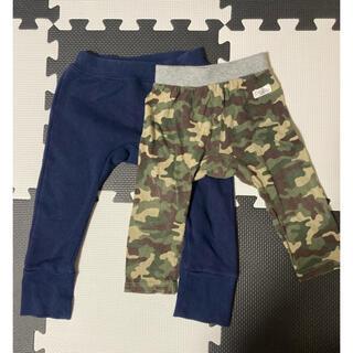 ムジルシリョウヒン(MUJI (無印良品))のベビー 80㎝ ズボン 2枚セット(パンツ)