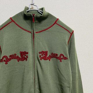VIVIENNE TAM - 一点物 ヴィヴィアン タム ドラゴン刺繍 ニット トラックジャケット