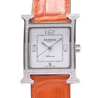 エルメス(Hermes)のエルメス  Hウォッチ ベゼルダイヤ 腕時計(腕時計(アナログ))
