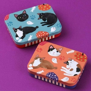 KALDI - カルディ 2021年 ハロウィン ネコミニ缶 黒猫 & 三毛猫