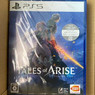 プレイステーション(PlayStation)のPS5 テイルズオブアライズ 早期購入特典付き  新品未開封 シュリンク付き(家庭用ゲームソフト)