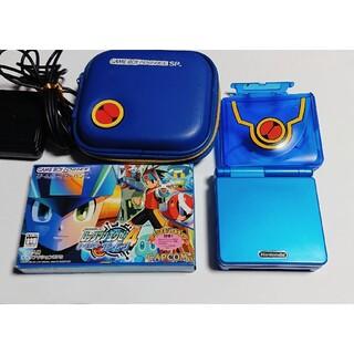 任天堂 - GBA ゲームボーイアドバンス SP ロックマンエグゼ 限定モデルセット