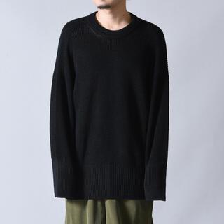 ヨウジヤマモト(Yohji Yamamoto)の新品!Ka na ta always summer knit 長袖 black(ニット/セーター)