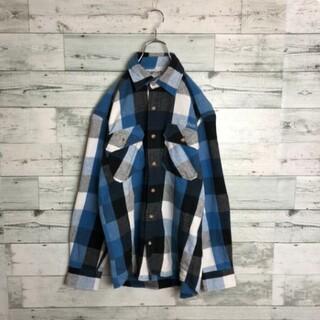 カーハート(carhartt)の《激レア》90s 古着 カーハート Carhart ネルシャツ 刺繍 ロゴ(シャツ)