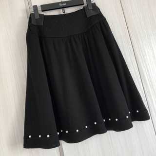 ルネ(René)の美品♡ルネ 裾パールスカート フォクシー トッカ アベニールエトワール(ひざ丈スカート)
