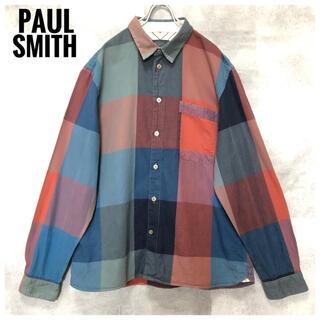 Paul Smith - 極美品⭐️Paul Smith ボックス チェック マルチカラー 長袖シャツ L