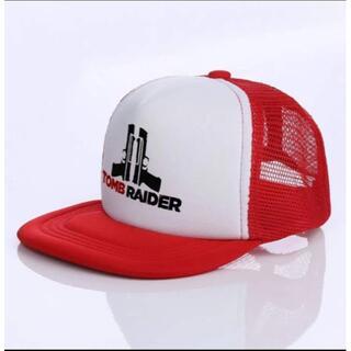 トゥームレイダー(TOMB RAIDAR)帽子 サバゲ― キャップ型1赤(その他)
