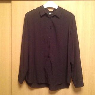 ユニクロ(UNIQLO)のボタンシャツXL黒(シャツ/ブラウス(長袖/七分))