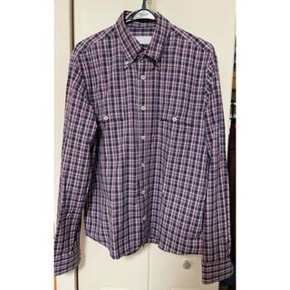 プラダ(PRADA)のプラダ 2012SS チェック柄長袖シャツ 42 ルーマニア製(シャツ)