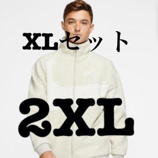 ナイキ(NIKE)の2XL セイル nike big swoosh boa jacket(ブルゾン)