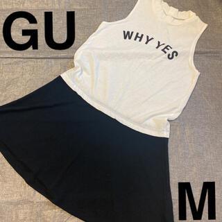 GU - 【2】M ジーユー ノースリーブ ワンピース #