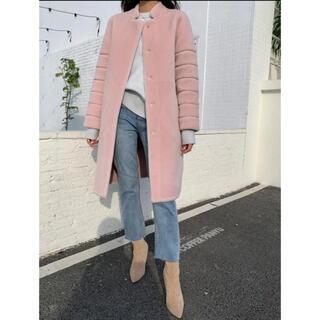 ザラ(ZARA)の新品未使用♡birthdaybash pink boa coat コートM(毛皮/ファーコート)