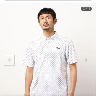フィラ(FILA)の【新品未使用】FILAGOLF ホワイトドット柄メンズ半袖ポロシャツ 3Lサイズ(ポロシャツ)
