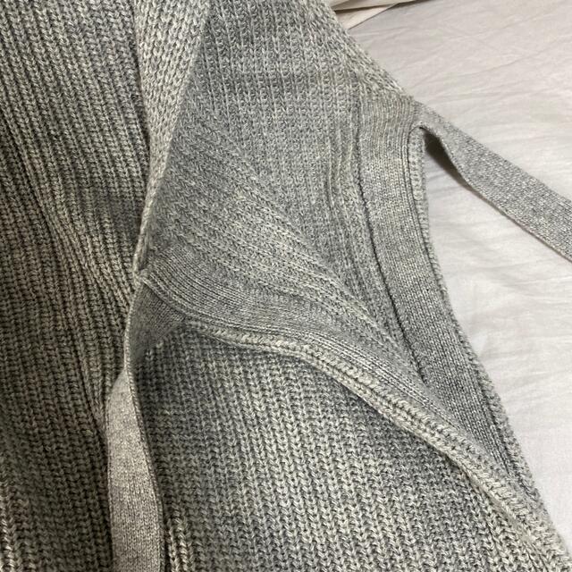 Sonny Label(サニーレーベル)のサニーレーベル サイドリボンハイネックニットベスト グレー レディースのトップス(ニット/セーター)の商品写真