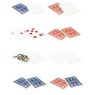 (カードマジック・手品・奇術)バイスクル ギャフカード8種セット(各5枚)(トランプ/UNO)