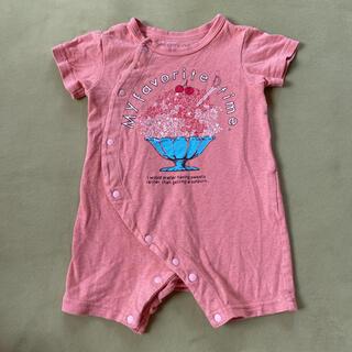 アンパサンド(ampersand)の半袖 ショートオール 70 赤ちゃん カバーオール ロンパース ベビー(カバーオール)