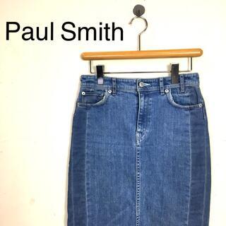 ポールスミス(Paul Smith)のB625 Paul Smithポール・スミス デニム膝丈タイトスカート ブルー系(ひざ丈スカート)