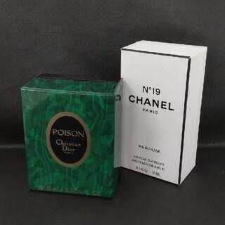 クリスチャンディオール(Christian Dior)のーCHANEL No19/Christian Dior POISON香水2点ー(香水(女性用))
