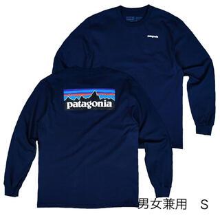 パタゴニア(patagonia)のパタゴニア 長袖 ロンT S ネイビー ベストセラー アウトドア  キャンプ(Tシャツ(長袖/七分))