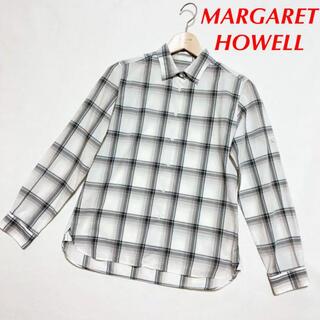 マーガレットハウエル(MARGARET HOWELL)の美品 マーガレットハウエル MHL コットン ブラウス サイズ1(シャツ/ブラウス(長袖/七分))