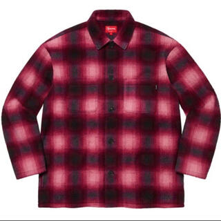 Supreme - Supreme Shadow Plaid Fleece Shirt Red M