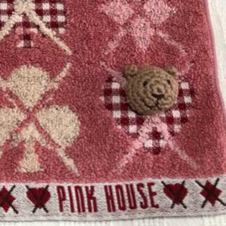 PINK HOUSE - P INKHOUSE  ピンクハウス タオルハンカチ くま