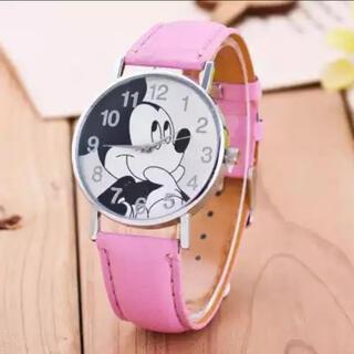 ミッキーマウス(ミッキーマウス)のミッキー 腕時計 ピンク 新品(腕時計)