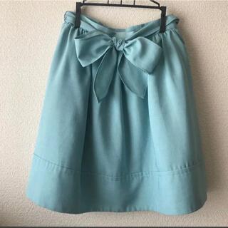ヴィス(ViS)の美品 ViSのリボン付きスカート(ひざ丈スカート)