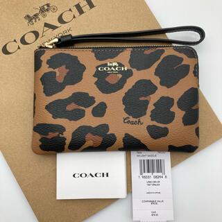 COACH - 【新品】COACH  コーチ  リストレット  コインケース レオパード柄 レア
