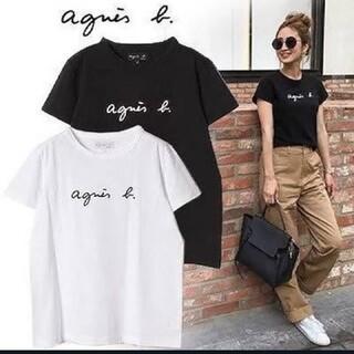 agnes b. - お得な2枚セット!大人気!新品 アニエスベーロゴ Tシャツ レディース ブラック