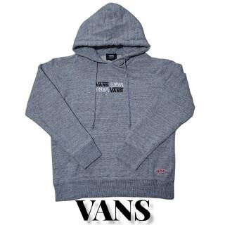 ヴァンズ(VANS)のVANS ロゴ 刺繍 パーカー 古着 グレー ヴァンズ ワッペン(パーカー)