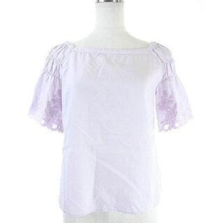 リランドチュール(Rirandture)のリランドチュール Rirandture 18SS 袖刺繍ギャザーブラウス 半袖(シャツ/ブラウス(半袖/袖なし))