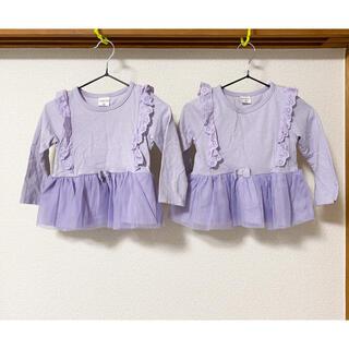 しまむら - 双子 しまむら 長袖 カットソー 90サイズ 2枚