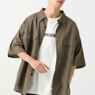 レイジブルー(RAGEBLUE)のRAGEBLUE レイジブルー 綿麻CPOシャツ5分袖 カーキ 春 夏 秋(シャツ)
