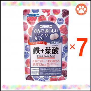 """オリヒロ(ORIHIRO)のオリヒロ かんでおいしいチュアブルサプリ """"鉄+葉酸"""" 30日分×7袋(その他)"""