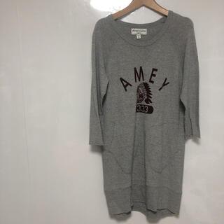 アメリカーナ(AMERICANA)のanericana ロンT グレー M-L 品番453(Tシャツ(長袖/七分))