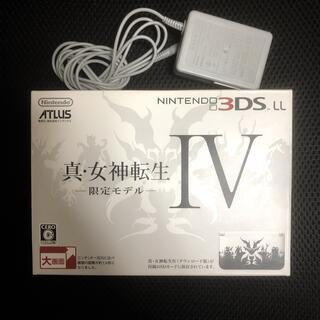 ニンテンドー3DS(ニンテンドー3DS)の【未使用品】3DS LL 真・女神転生限定モデル 箱無し専用アダプタ付き(家庭用ゲーム機本体)