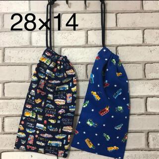 縦長巾着袋 はし箱入れ 給食袋 2つセット(42) ハンドメイド(外出用品)