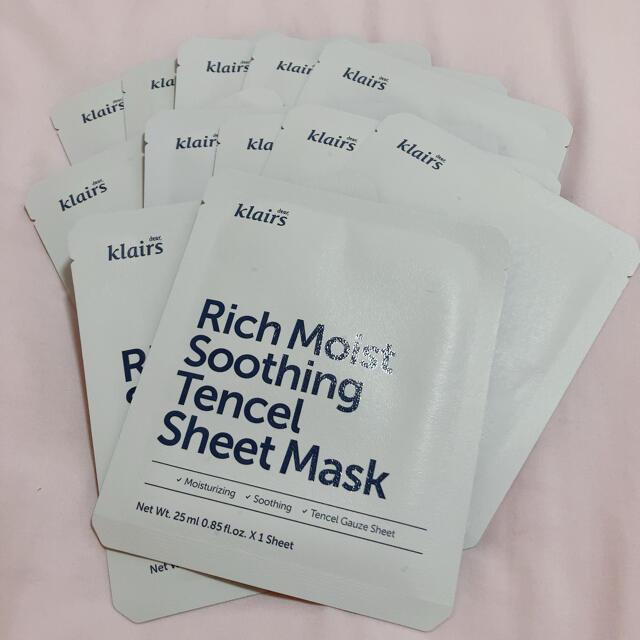 Dr. Jart+(ドクタージャルト)の【コメント必須】クレアス リッチモイストスージングシートマスク 12枚 コスメ/美容のスキンケア/基礎化粧品(パック/フェイスマスク)の商品写真