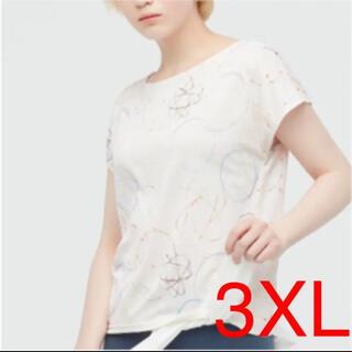 ユニクロ(UNIQLO)の3XL 新品 ユニクロ フューチュラ ドライEX プリントクールネックTシャツ(Tシャツ(半袖/袖なし))